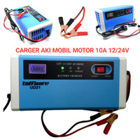 Carger Aki Mobil Motor 10A Casan Charger Accu 12V 24V Kering Basah