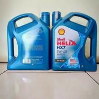 Oli Shell Helix HX7 5W-40 100% Asli Fully Synthetic SN Plus 4 Liter