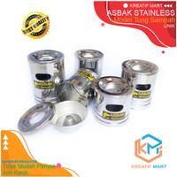 Asbak Mini Stainless Steel Anti Karat Model Tong Sampah