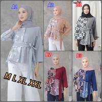 Atasan Batik Wanita Ootd Hijab   Blouse Batik