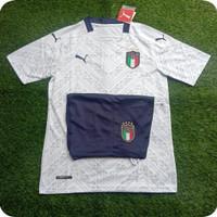 Jersey Baju Bola Italia Away 2021 Setelan Baju dan celana Go impor