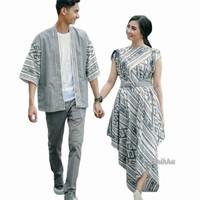 baju couple etnik kimono toraja putih - kimono pria, S