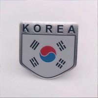 sticker motor mobil korea selatan emblem logo korea alumunium flag