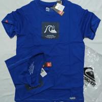 kaos baju tshirt skate surfing quiksilver premium warna biru terlaris