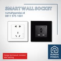 Smart Wall Socket / Stop Kontak / Colokan Pintar termasuk Instalasi