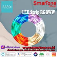 BARDI Lampu LED Strip RGBWW Wifi 2m Control by app google alexa