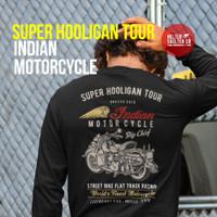 Kaos Lengan Panjang Indian Motorcycle Bikers Super Hooligan Tour - S