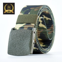 [Y&H] Ikat Pinggang Pria Canvas Men Belt Nylon Tactical ARMY