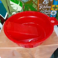baskom papan cuci baju plastik merk GAJAH diameter 52.5cm
