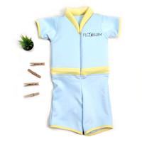 [Free Kacamata Renang] Baju Renang Anak Pelampung Floswim Standar - Blue, M