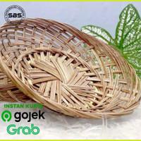 PAKET HEMAT 20Pcs Piring Lidi Anyaman Piring Rotan Bambu Murah