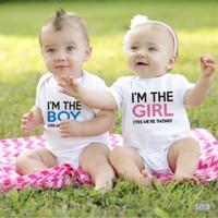 Twins Jumper Romper Baju Bayi Free Custom Nama Boy Girl Kembar Unisex
