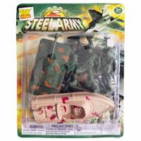 Mainan Tentara Tentaraan Set Army Soldiers Militer Perang Steel Army