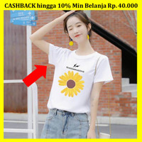 Baju Wanita Bunga Matahari Ukuran S M COD