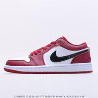 Sepatu Nike Air Jordan Retro 1 Low Noble Red White Original Bnib - NOBLE RED, 39