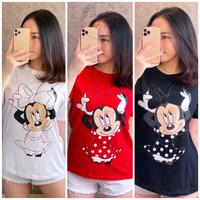 Baju Wanita Jumbo Minie Mouse Terbaru Size XL / Atasan Wanita Oversize