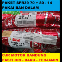 Paket Sepasang Ban Luar Motor Matic Aspira SPR39 70 90 & 80 90 ring 14