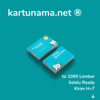 Kartu Nama Toko / Price Tag / Hang Tag / Loyalty Card Murah