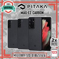 Case Samsung Galaxy S21 Plus S21 Ultra PITAKA MagEZ Aramid Carbon