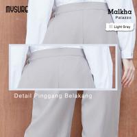 Celana Kulot Palazzo Pants Muslim Malkha Original brand Mysure - Light Grey, S