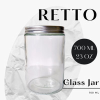 RETTO Straight Glass Jar 700 mL   Toples Kaca   Jar Kaca Cantik
