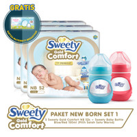 Paket New Born Set 1 (Sweety Gold Comfort NB 52s+ Baby Bottle 150ml)