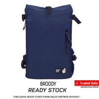 Tas Rainproof Rolltop Backpack Lite 321 by NAMA - Navy - Navy-Black