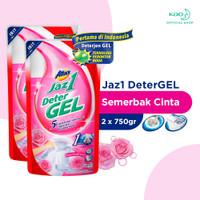 Attack Jaz1 Deterjen Gel DeterGEL Semerbak Cinta Pouch 750gr Twinpack
