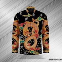 Baju Batik Tulis Asli Kemeja Pria Katun Prada 05 Pekalongan Naga