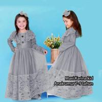 Baju gamis pesta brukat anak 7-9 th Kirana busana muslim lebaran murah