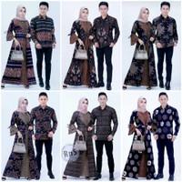 Baju Couple Pasangan Muslim Terbaru / Kemeja Gamis Batik Copel Modern