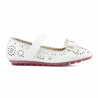 Flat Shoes Anak Perempuan Laser 818-10 - Fransisca Renaldy - Putih, 28