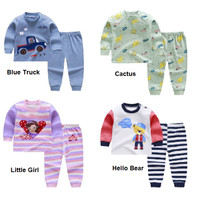Baju setelan 0-6 Thn Piyama bayi / anak/ Setelan Lengan Panjang