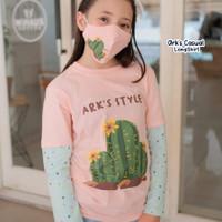 baju kaos/atasan anak perempuan kaktus ark's style - size 12