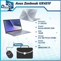Laptop Asus Zenbook UX431FL |i7 10510U 16GB 512ssd MX250 2GB 14.0 W10