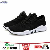 Leedoo Sepatu Pria Sneaker Running Fashion Shoes Bahan Karet