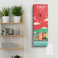 jam dinding pictbox aesthetic minimalis 60x20 cm