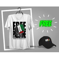 BAJU KAOS FREE PALESTINE TERBARU / KAOS FREEDOM PALESTIN TERBARU