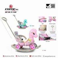 Mainan kuda kudaan anak Unicorn Exotic ET 2108 3in1 multi functional