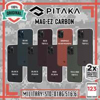 Case iPhone 12 Mini 12 Pro Max PITAKA MagEZ Aramid Carbon MagSafe