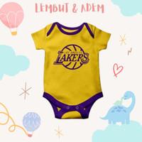 Baju Jumper bayi unik dan lucu basket team lakers