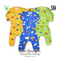 Aruchi Kancing Depan Setelan Panjang Baju Tidur Bayi Size NB