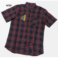 Baju Pria Flanel Kemeja Pendek usia remaja dan dewasa
