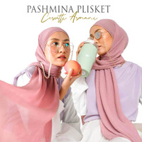 PASHMINA PLISKET/PLEATED SHAWL CERUTY ARMANI - DUSTY PINK