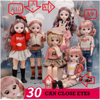 30cm Boneka Barbie Doll Cute Gift Princess doll Included Clothes and S - G01