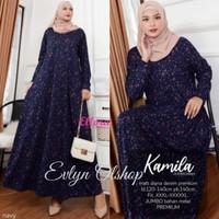 Baju Gamis Wanita Muslim Perempuan Dewasa Terbaru Maxy Diana Denim Pre