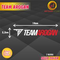 Cutting Stiker TARGN / Sticker Team Arogan / Cutting Logo TARGN RdWhte