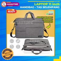 Tas Laptop 11 inch Sleeve Selempang Universal HandBag NoteBook OKADE - Hitam
