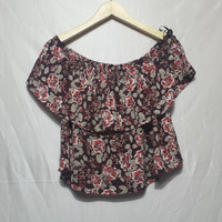 blouse wanita sabrina import thrift merk forever 21