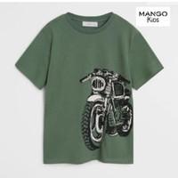 Baju kaos pendek anak laki cowo branded original mango hijau 6 tahun